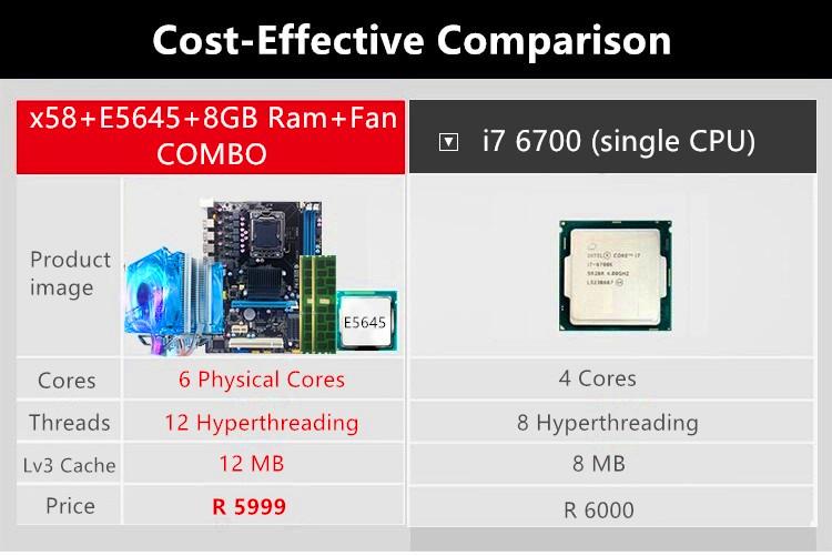 e5645 - comparison